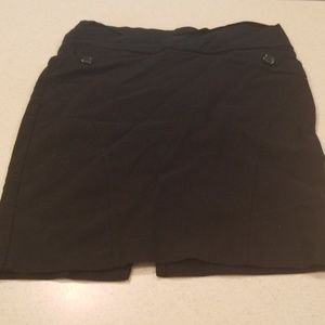 Short black skirt with slit in back size L